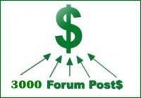 I will make 3,000 forum post backlink with your URL + keywords