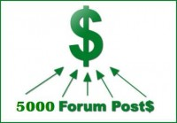 I will post your websites with 5,000 forum post backlink with your URL + keywords