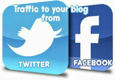 tweet and facebook.